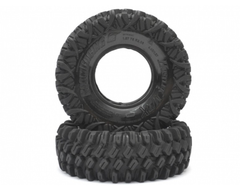 HUSTLER M/T Xtreme 1.9 Rock Crawling Tires 4.45x1.57 SNAIL SLIME™ Compound W/ 2-Stage Foams (Soft) [Recon G6 Certified] 2pcs