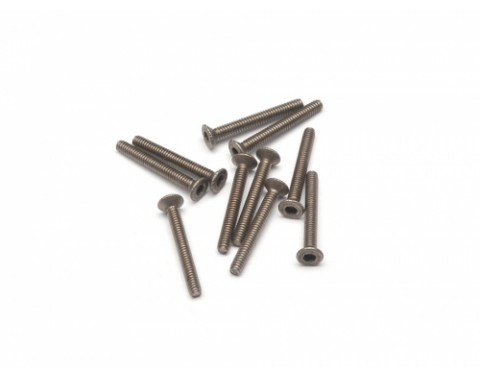 Titanium M2 x 16mm Countersunk(Flat) Hex Screws Bolts (10pcs/bag)