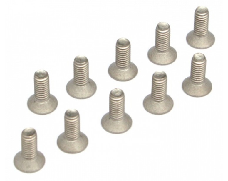 Titanium M3 x 8 Countersunk(Flat) Hex Screws Bolts (10pcs/bag)