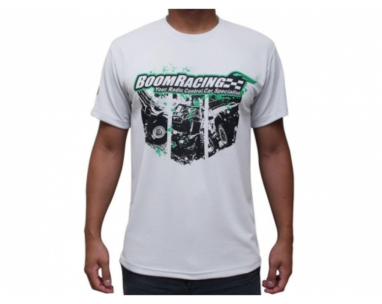 Boomracing Teamwear Round Neck T-shirt XXL (White)