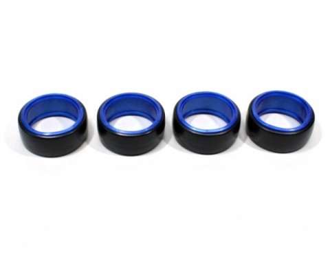 Slick Plastic Drift Tires W/inner Rim For 1/10 RC Car 26mm (4 pcs) Blue