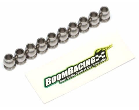 BADASS Heavy Duty Rust-Resistant Stainless Steel Flanged Pivot Ball For Rod Ends (5.8x3x7.4mm) 10pcs [RECON G6 The Fix Certified]