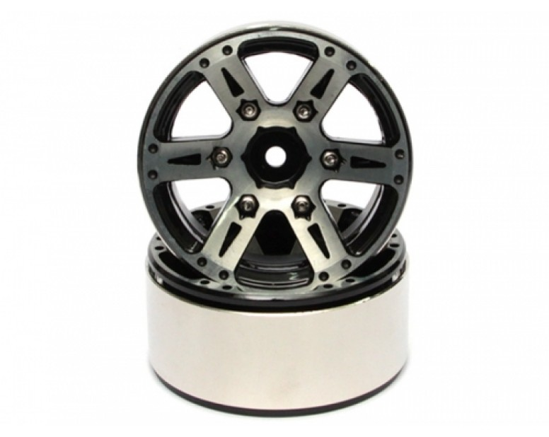 EVO™ 1.9 High Mass Beadlock Aluminum Wheels Twin - 6D (2)