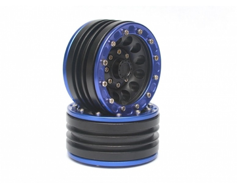 Gravity™  1.9 Beadlock Wheels (2) for Crawler Blue
