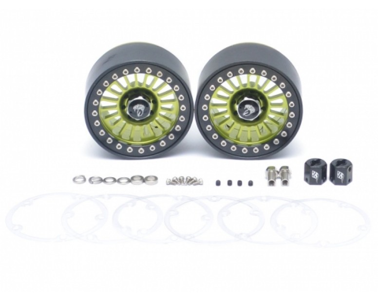 Venomous KRAIT™ 2.2 Aluminum Beadlock Wheels 8mm Wideners (2) Green