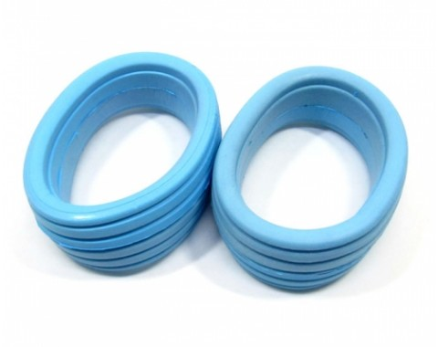 Molded Tire Inserts For 1/8 Buggy Wheel (2 Pieces) Blue