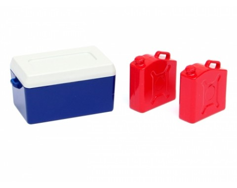 RC Scale Accessories -  Ice Bucket (1)  and  Fuel Can (2)