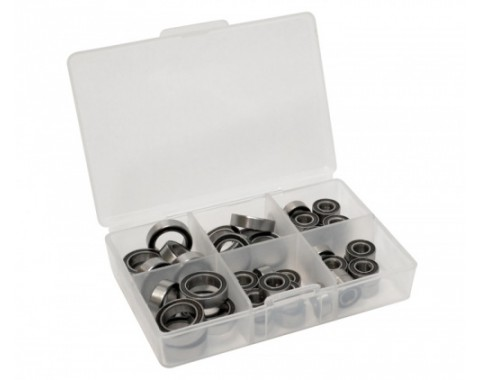 High Performance Full Ball Bearings Set Rubber Sealed (22 Total) -
