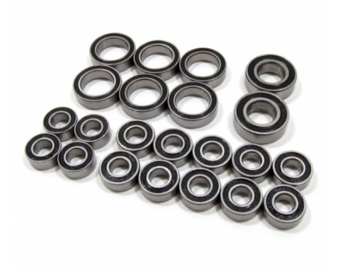 High Performance Full Ball Bearings Set Rubber Sealed (22 Total)