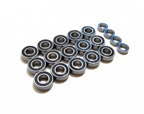 High Performance Full Ball Bearings Set Rubber Sealed (19 Total)