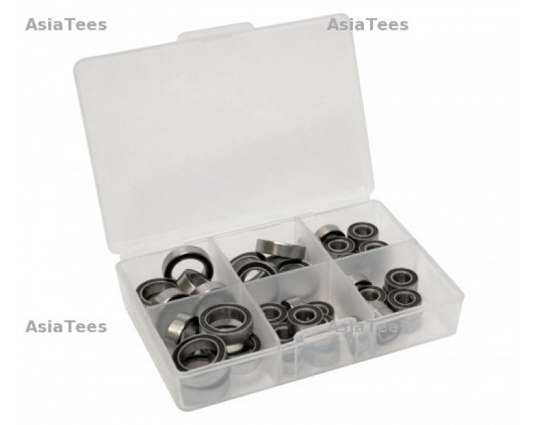 High Performance Full Ball Bearings Set Rubber Sealed (24 Total) -