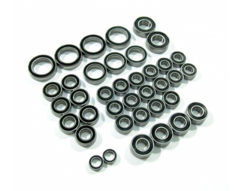 High Performance Full Ball Bearings Set Rubber Sealed (38 Total)